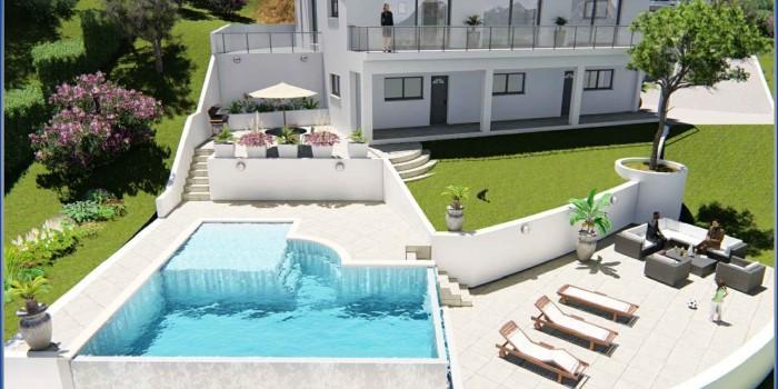 Villa à l' Escarène sur les hauteurs de Monaco (Alpes-Maritimes)