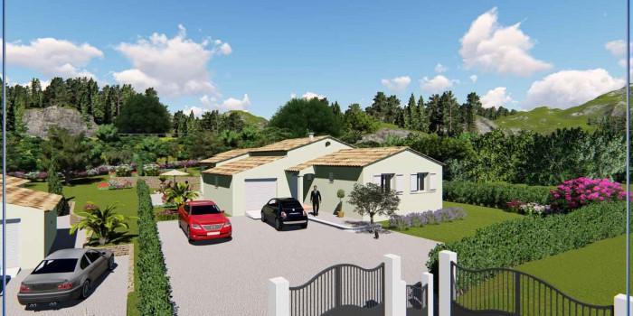 Villa lot A Lotissement « Gossart » sur les hauteurs de Draguignan à Montferrat (var)
