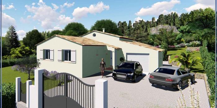 Villa lot B Lotissement «Gossart» sur les hauteurs de Draguignan à Montferrat (var)