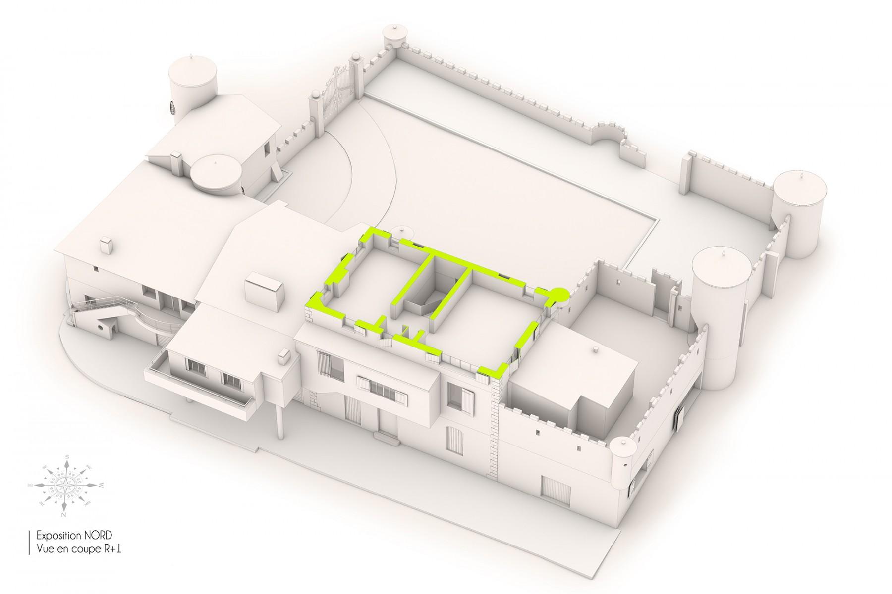 lev topographique plans et maquette 3d d une b tisse proven ale goplan. Black Bedroom Furniture Sets. Home Design Ideas